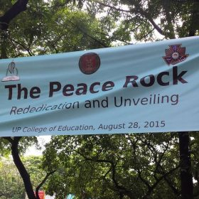 Unveiling of the APO Peace Rock