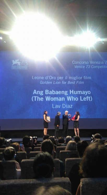 Bro. Lav Diaz, Beta Psi '77 wins Golden Lion Award for Best Film