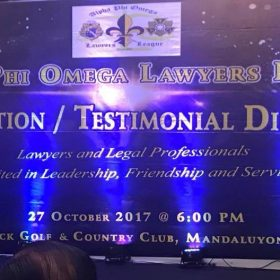 Alpha Phi Omega Lawyers League Induction Ceremonies and Testimonial Dinner