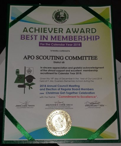 APO receives award from the BSP