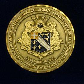 A rare APO Philippines Challenge Coin.