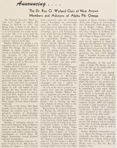 Wyland Pledge Class - T&T Oct '51
