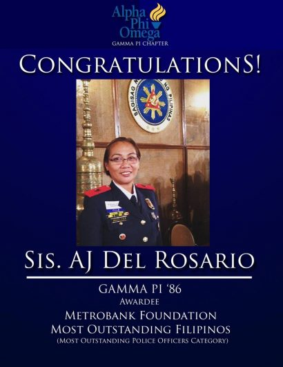 APO Police Woman is Metrobank Foundation Outstanding Filipinos Awardee